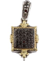 Konstantino - Sterling Silver & 18k Yellow Square Black Diamond Pendant - 0.33 Ctw - Lyst