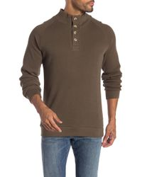 English Laundry - Saddle Mock Neck Partial Buttoned Sweater - Lyst