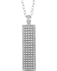 Anna Beck - Sterling Silver Long Bar Pendant Necklace - Lyst