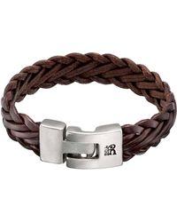 Uno De 50 - 15 Micro Silver Leather Bracelet - Lyst