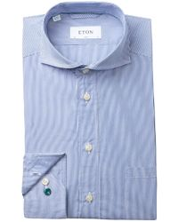 Eton of Sweden - Fine Bengal Stripe Slim Fit Dress Shirt - Lyst