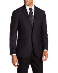 Kenneth Cole Reaction - Black Jacquard Sportcoat - Lyst