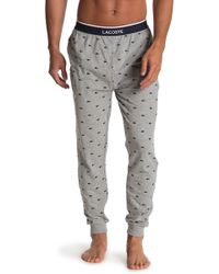 Lacoste Printed Sweatpants - Gray