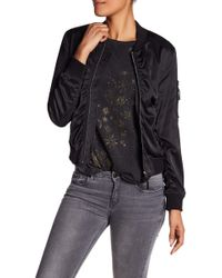 Lucky Brand | Ruched Bomber Jacket | Lyst