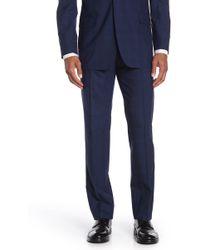 Brooks Brothers - Dark Blue Plaid Regent Fit Suit Separate Pants - Lyst