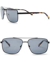 Ted Baker - 58mm Full Rim Navigator Sunglasses - Lyst