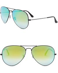 1b8654e5ea Lyst - Ray-Ban 0rb4105 60694o 50 Matte Black mirror Gradient Blue ...