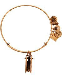 ALEX AND ANI - Team Usa Sled Charm Expandable Wire Bangle - Lyst