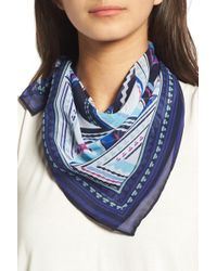 Halogen - (r) Triangle Print Square Scarf - Lyst