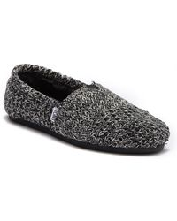 3e52a4183e41 TOMS - Classic Knit Faux Fur Lined Slip-on Sneaker - Lyst