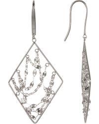 Lana Jewelry - 14k White Gold Diamond Webbed Earrings - Lyst