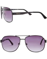 Kenneth Cole Reaction - 58mm Metal Oversized Square Sunglasses - Lyst
