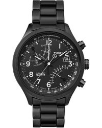 Timex - Men's Iq Fly-back Bracelet Watch, 43mm - Lyst
