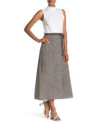 Max Studio Faux Wrap Maxi Skirt