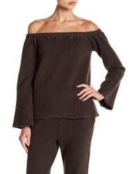 NYTT - Off-the-shoulder Cutout Blouse - Lyst
