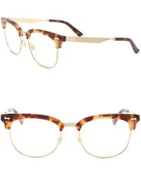 07e49cc5d Lyst - Gucci Gradient Clubmaster Frame in Metallic