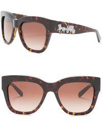 ddbe12053fbb COACH 56mm Oversize Square Sunglasses in Black - Lyst
