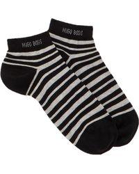 BOSS - Striped Sneaker Socks - Lyst