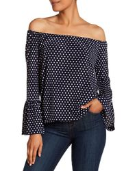 MICHAEL Michael Kors - Dotted Peasant Blouse - Lyst
