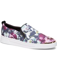 Ted Baker - Tancey Text Entangled Floral Slip-on Trainer - Lyst