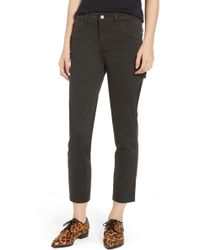 J Brand - Ruby High Waisted Crop Painter Pants - Lyst