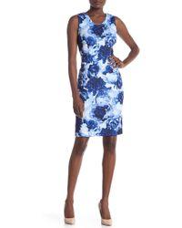 T Tahari - Floral-print Sleeveless Sheath Dress - Lyst