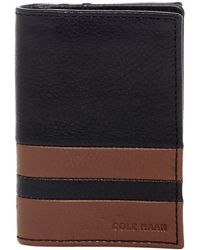 Cole Haan - Leather Two-tone Flap Card Case - Lyst