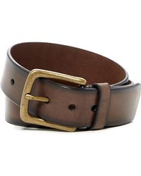 Fossil - Drake Leather Belt - Lyst