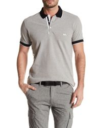 Lindbergh - Contrast Pique Polo Shirt - Lyst