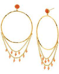 Gorjana - Sol Gemstone Drape Front Facing Hoop Earrings - Lyst