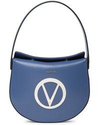 Valentino By Mario Valentino - Alma Mirror Leather Shoulder Bag - Lyst
