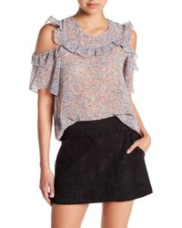 BCBGeneration - Ruffle Accent Cold Shoulder Top - Lyst