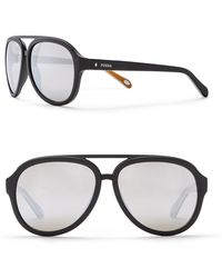 Fossil - Men's 59mm Aviator Sunglasses - Lyst