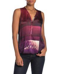 689fd0ee84edf9 Lyst - Ramy Brook Lauren Sleeveless Satin Blouse in Purple