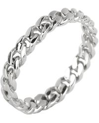 Argento Vivo - Sterling Silver Twisted Band Ring - Size 9 - Lyst
