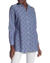 4ae41115b12 Lyst - Foxcroft Jade Heirloom Paisley Shirt (plus Size)