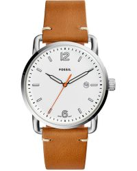 Fossil - Men's Three-hand Date Light Brown Leather Watch, 42mm - Lyst