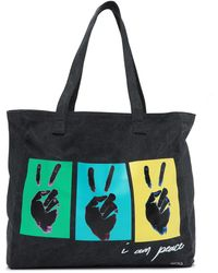 Peace Love World - Oversized Canvas Tote - Lyst