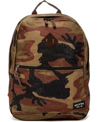 Brixton - Carson Camo Print Backpack - Lyst