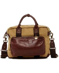 Will Leather Goods - Lewis Canvas & Leather Briefcase - Lyst