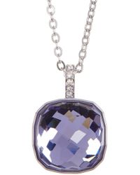 Swarovski - Faceted Half Dome Pendant Necklace - Lyst