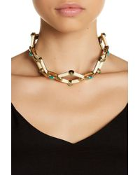 House of Harlow 1960 - Valda Stone Statement Necklace - Lyst