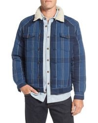 Surfside Supply - Faux Shearling Lined Plaid Shirt Jacket - Lyst