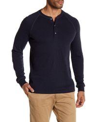 AG Jeans - Knit Henley Long Sleeve Crew Neck Tee - Lyst