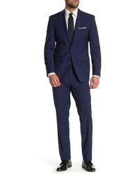 Calvin Klein - Wool Blend Mini Stripe Slim Suit - Lyst