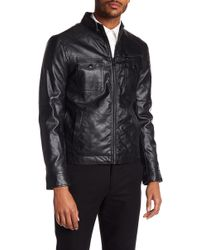 Kenneth Cole - Faux Leather Jacket - Lyst