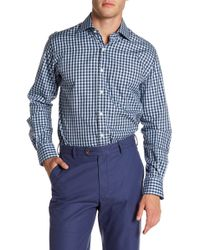 Peter Millar - Yachting Gingham Print Regular Fit Shirt - Lyst
