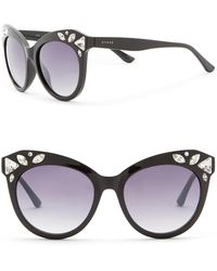 Guess - 54mm Crystal Embellished Cat Eye Sunglasses - Lyst
