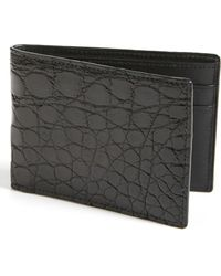 Boconi - Genuine Crocodile Slimfold Wallet - Lyst