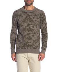 Quinn - Cashmere Camo Printed Crew Neck Sweater - Lyst